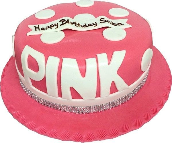 PINK WITH CAPITALS CAKE