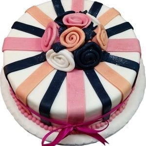 ROSES AND STRIPES CAKE
