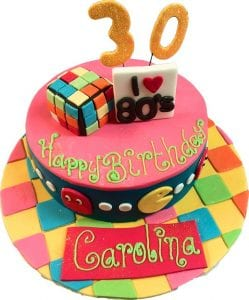 EIGHTIES BESPOKE BIRTHDAY CAKE