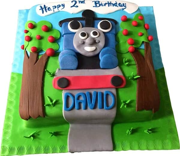 Excellent Thomas The Tank Engine Square Cake Cakenology Personalised Birthday Cards Sponlily Jamesorg