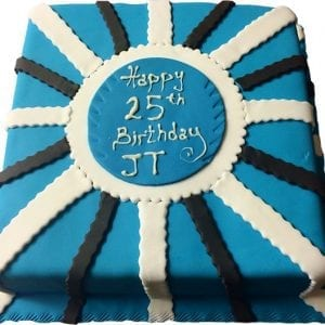 blue blue birthday cake