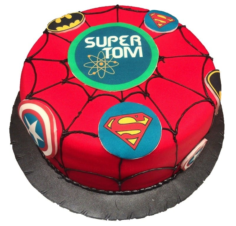 Marvelous Superhero Cake Cakenology Personalised Birthday Cards Veneteletsinfo