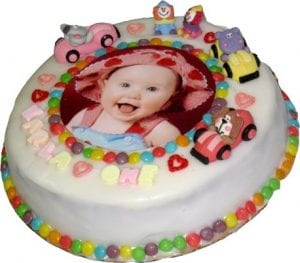 Bespoke photo cake for baby shows in London