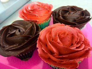 Rose Shape Cupcakes